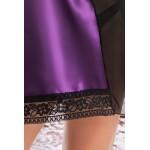 plus size-043 Mira  Classic Purple Satin Babydoll S-6XL Babydolls-Nine X